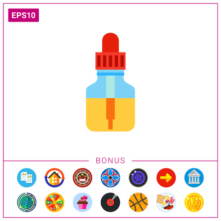 Essential oil bottle with dropper icon