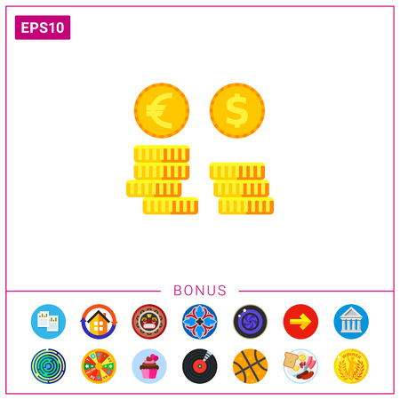 Exchange Rates Vector Icon Illustration