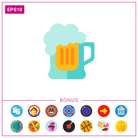 Glass of beer icon Illustration