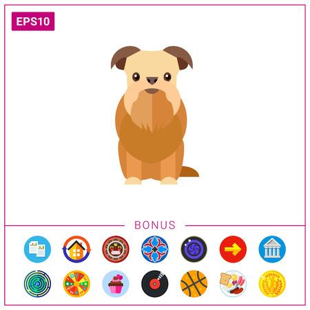 griffon: Griffon bruxellois dog icon