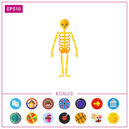 Human skeleton icon