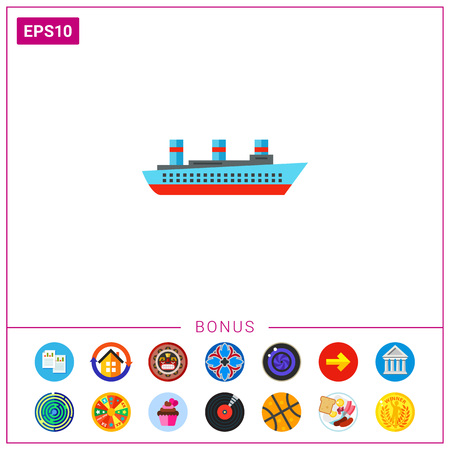 steamship: Isolated Steamship Icon