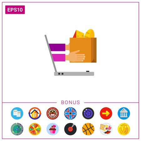 Ordering Food Online Icon