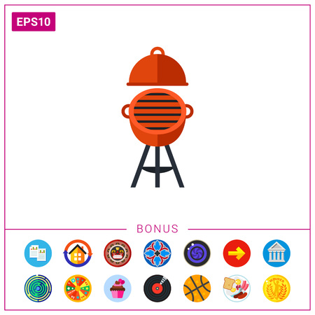 roasted: Oven barbecue icon Illustration