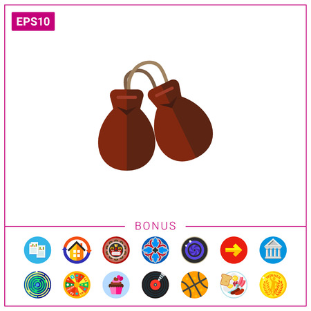 Percussion instrument castanets icon