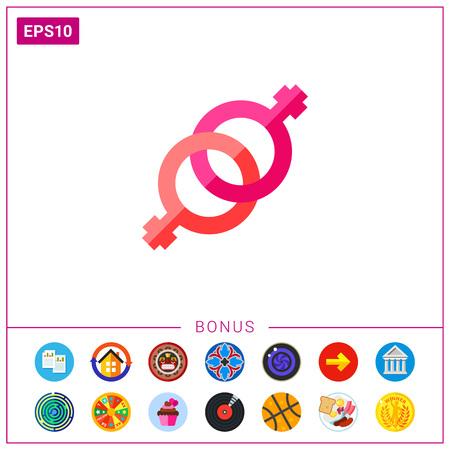Pink lesbian icon