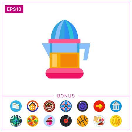Plastic electric juicer vector icon Illustration
