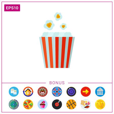pop corn: Popcorn bucket icon