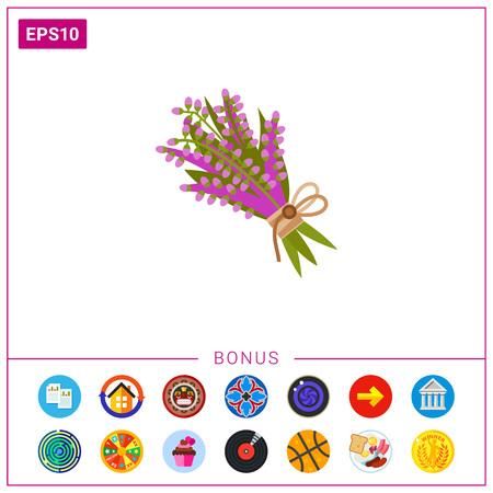 winter garden: Purple heather icon