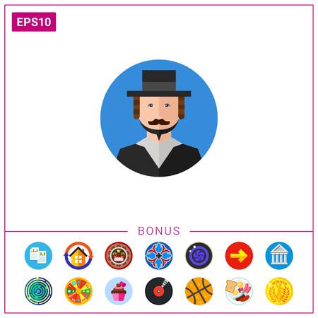rabbi: Rabbi Portrait Icon