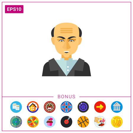 mustafa: Portrait of Mustafa Kemal Ataturk icon