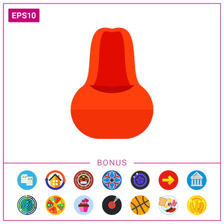 Red Beanbag Chair Icon