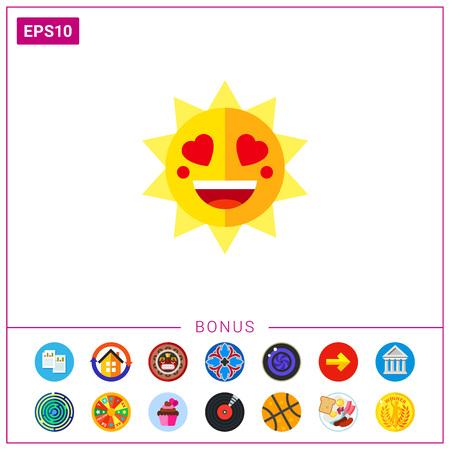 Smile lovely sun icon