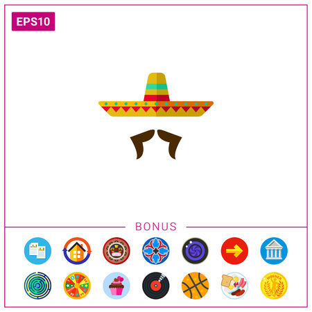 Sombrero and mustache icon