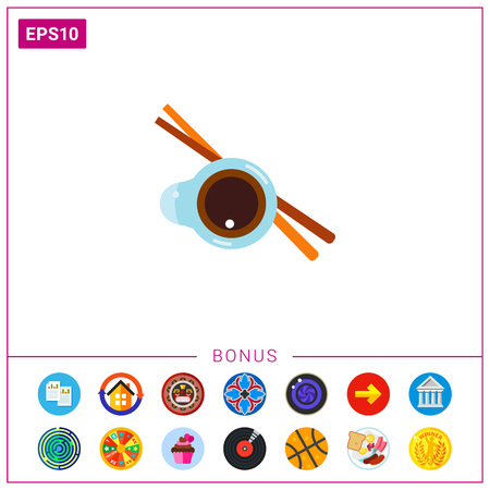 Soy sauce and chopsticks icon
