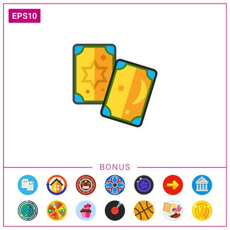 Tarot cards icon Illustration