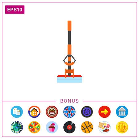 Sponge mop vector icon