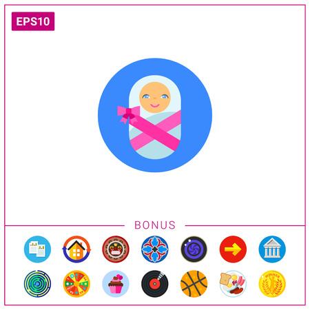 swaddled: Swaddled Baby Icon