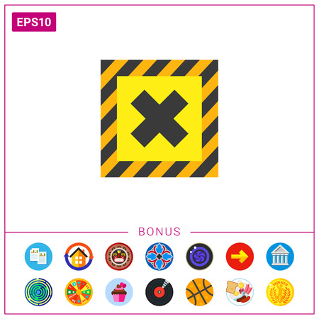 Symbol Of Harmful Chemical Substance Icon Royalty Free Cliparts