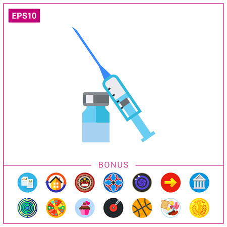 ampoule: Syringe and ampoule icon