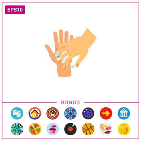 lavamanos: Icono de las uñas de lavado