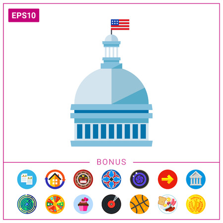 federal election: White House Vector Icon