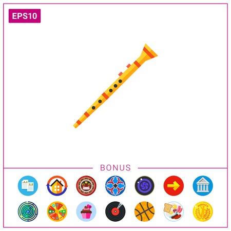 Clarinet musical instrument icon