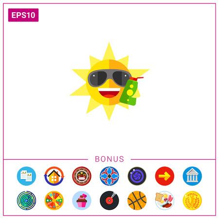 sun block: Sun holding opened sunscreen lotion icon