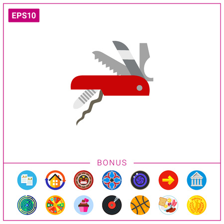 knife vector icon Illustration