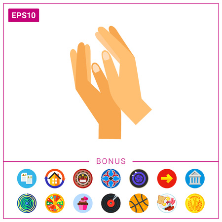 icon: Clapping hands vector icon