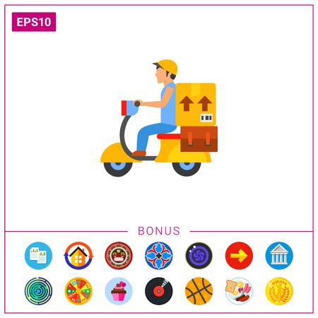 Delivery service icon Illustration