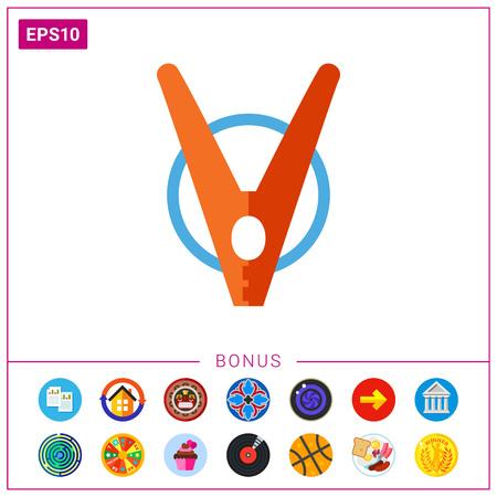Clothes pin icon