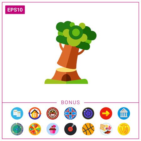 logging: Cutting tree icon