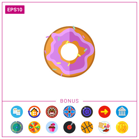 Doughnut icon. Illustration