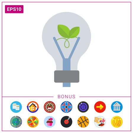 Eco-friendly lightbulb Illustration