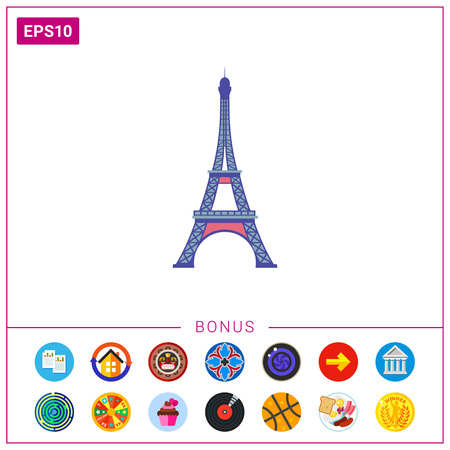 french culture: Eiffel tower icon Illustration