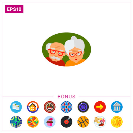 Elderly Couple as Old Age Concept Icon