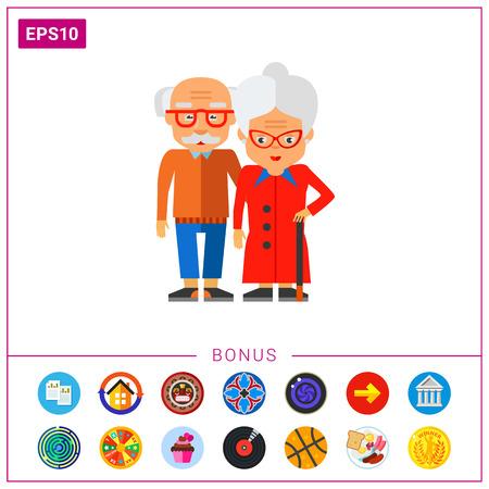 Elderly People Vector Icon