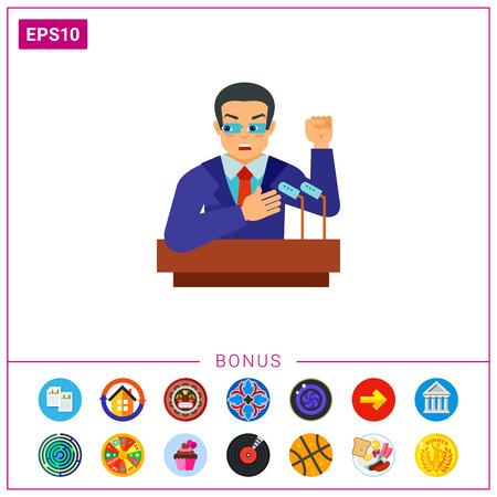 rostrum: Election campaign vector icon