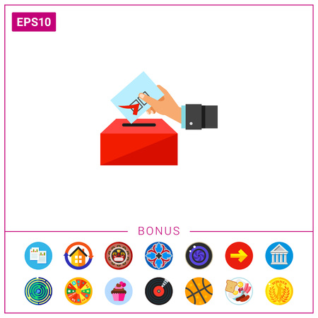 presidential: Election Concept with Voting Paper Icon