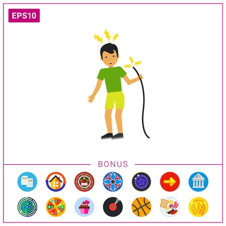Electric Shock Flat Icon