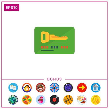 keycard: Electronic keycard Illustration