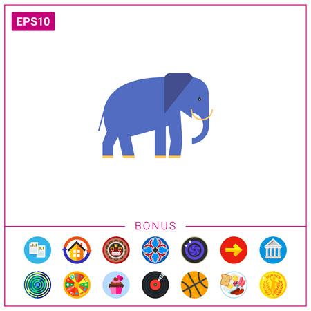 Elephant icon Vetores
