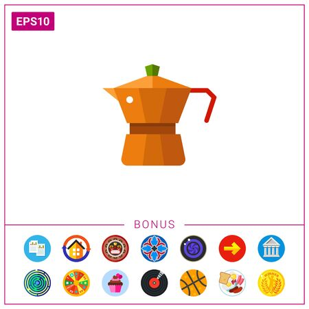 Espresso coffee maker icon