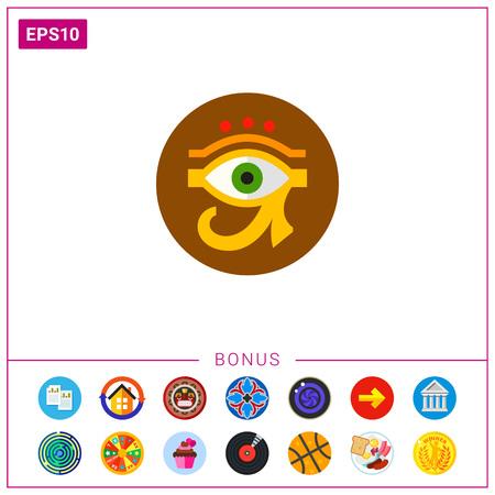 ojo de horus: Ojo de Ra o Icono de Horus Vectores
