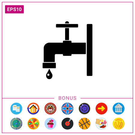 stopcock: Faucet simple icon