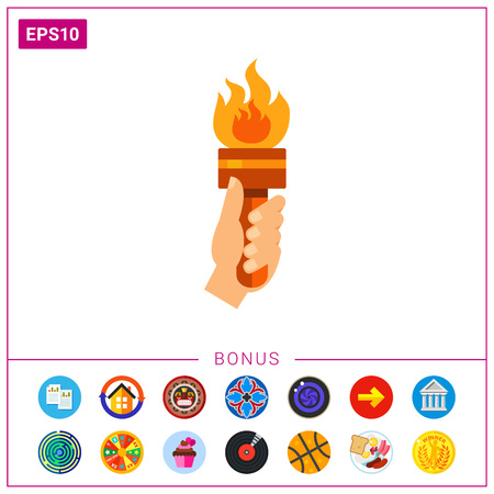 Fire torch icon Illustration