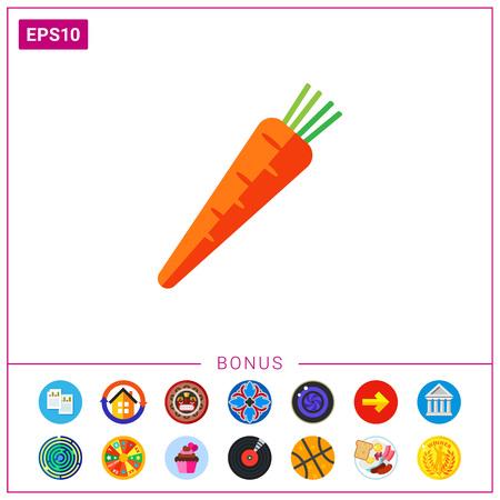 Fresh carrot icon