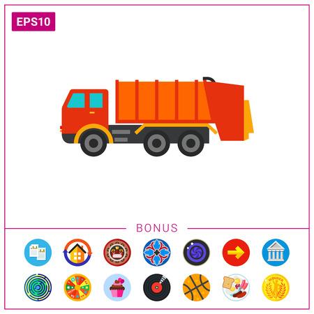 Icono del camión de la basura