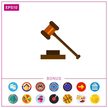 Gavel Flat Icon